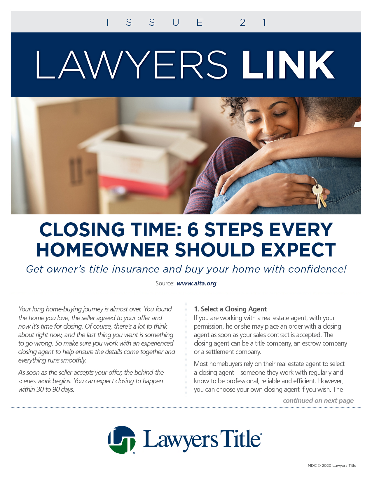 Lawyers Link Issue 21, page 1